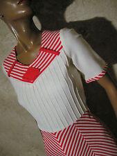 CHIC VINTAGE ROBE JERSEY 1960 VTG DRESS 60s MOD TWIGGY KLEID ABITO (36/38)