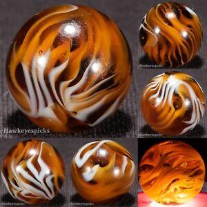 Alley SHOOTER FLAME 22+ Tips Swirl Vintage Marble 13/16 NM+ hawkeyespicks cb