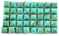 TWO 5mm Square Natural Turquoise Cab Cabochon Gem Stone Gemstone EBS7645