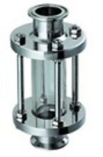 "Stainless Steel 3/4"" Inline Sight Glass Sanitary 3A"