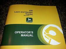 NEW JOHN DEERE 430 OPERATORS MANUAL LAWN MOWER GARDEN TRACTOR