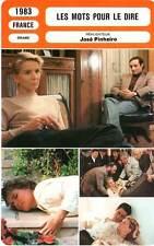 FICHE CINEMA : LES MOTS POUR LE DIRE - Garcia,Barrault,Mesguich,Pinheiro 1983