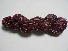Knitglobal 4ply Wool Nylon Sock Yarn 100g hank - Cranberries