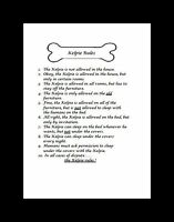 "Australian Kelpie ""Rules"" Dog Art Print - Matted"