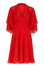BNWT~ Monsoon ~ Size 8 ~ Mai Tai 100% Silk Cocktail Prom Flattering Dress ~ Red