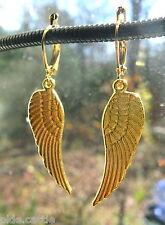 買 Olde Castle Arts ~ Golden Angel Wing Earrings on Gold-Plated Latching Earwires