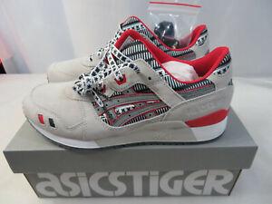 ASICS Tiger Gel Lyte III 3 Size 7.5 Mens Glacier Grey Silver Red 1191A281-020