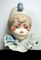 1976 Large CYBIS Bisque Porcelain Funny Face Boy Circus Clown Head Bust Signed
