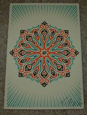 ERNESTO YERENA Silkscreen Print PEACE & LOVE Handbill poster shepard fairey
