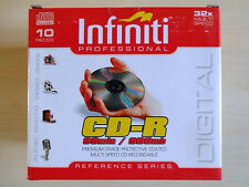 Infiniti Professional Oversized CDR 99min/900mb 10x Blank CDs in Cases