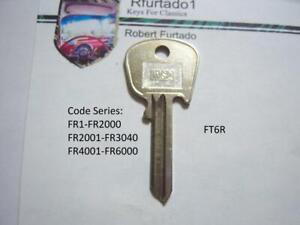 Key Blank for Vintage Lotus, Sunbeam, Aston Martin Ign. (see code series) FT6R