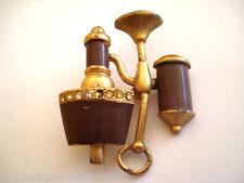 BROCHE ANCIENNE VINTAGE OBJET D'ART LAMPE CHEVET A GAZ * Collection Privée *