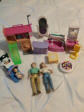 Fisher Price Loving Family Dollhouse Lot and Assorted Other Furniture 13 Pieces