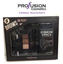 *New Profusion-Brows On Point EyeBrow Powder Stencil Gel Brush Tweezer Free Ship