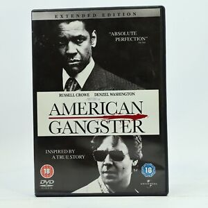 American Gangster Extended Edition Denzel Washington Russell Crowe DVD R2 GC