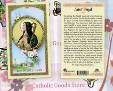 St. Saint Brigid of Ireland  - Laminated Holy Card