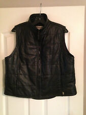 BEDOYA & SLY Black Leather Vest with zipper
