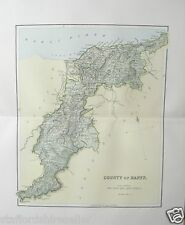 Antique Victorian Map c1890 County of Banff Scotland