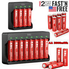 EBL AA Rechargeable Lithium Li-ion Batteries 1.5V Upgraded / Battery Charger Lot