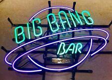 "Big Bang Bar Purple 20""x16"" Neon Sign Light Lamp Beer Bar With Dimmer"