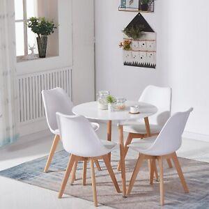 Esstisch mit 4 Stühlen Küchentisch Esszimmertisch Retro Tulip Essstühle Tabelle