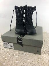 Clarks Arctic Mission Womens Boots Black Lace Up Sz.6 1/2 M New