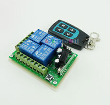 315MHZ 12V 4 Channel Wireless Remote Control Switch + Waterproof 4 Keys Board