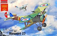 Roden 061 - 1/72 - Nieuport 27C1 French biplane 1917 WWI plastic model kit Scout