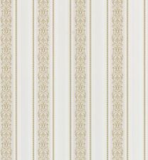 Traditional Classic Gold Stripe Washable Solid Vinyl Wallpaper Wallcovering