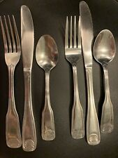 2 Place Settings - Cambridge Shell Stainless Silverware Flatware