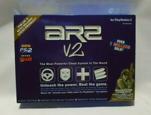 PLAYSTATION 2 AR2 version 2 / v2 - cheat system, memory card manager NEW SEALED