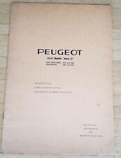 Peugeot 504 USA Norm 73 Beschreibung Wirkungsweise Werkstattunterlagen (1973)