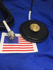 MAGNET BASE NMO MOUNT TNC MALE MAGNETIC  UHF VHF ANTENNA BASE NMO MADE IN USA