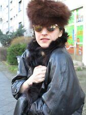Damen Fellmütze Pelzmütze Mütze Fuchs braun 70er TRUE VINTAGE 70s fur hat