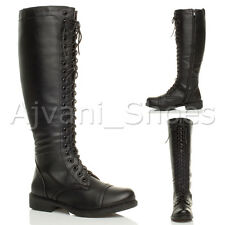 Women's Zip Knee High Slim Synthetic Leather Boots