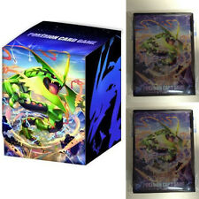 Pokemon XY MEGA RAYQUAZA Character Card Sleeves 2Pack ( 64pc) + Deck Box X Y