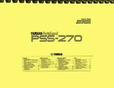 Yamaha PSS-270 Portasound Digital Keyboard Synthesizer OWNER'S MANUAL