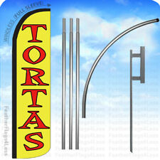 TORTAS - Windless Swooper Flag KIT Feather Banner Sign 15' Set yz
