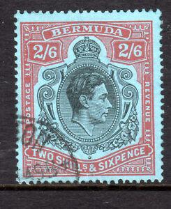Bermuda 2/6 fine used P14 KGVI  Excellent cancel 1938-53 msca [C0321]