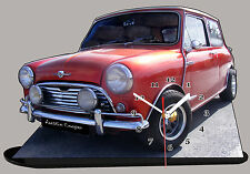 MODEL CARS, AUSTIN COOPER -10, car passenger,11,8x 7,8 inches  with Clock