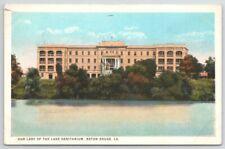 Louisiana Baton Rouge Our Lady Lake Sanitarium 1923 Curt Teich Vintage Postcard