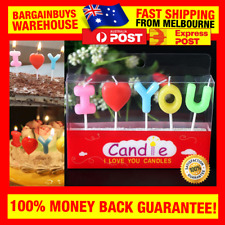 I Love You Candles Romantic Birthday Cake Candle Set Valentines Day Candles
