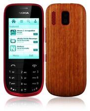 Skinomi Light Wood Full Body Skin+Screen Protector Cover for Nokia Asha 202