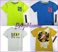 DKNY TOP TEE SHIRT BOYS V NECK LONG PLAY TODDLER 2T 3T 4T NEW