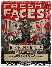 "Ice Nine Kills / Wage War ""Fresh Faces Tour"" 2015 Portland Concert Poster- Metal"