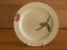 ERLY 19TH C WEDGWOOD QUEENSWARE DEESRT PLATE PAINTED WITH FALLEN LEAF PATTERN