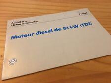 Volkswagen VW Passat additif notice utilisation diesel TDI 81 kW éd. 96