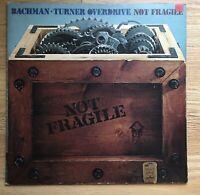 BTO Bachman-Turner Overdrive Not Fragile Gatefold 1974 SRM-1-1004 First Owner