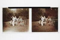 Il Giardino Foto Placca Stereo 6x13cm Vintage