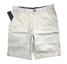NWT Tommy Hilfiger Men's Flat Front Chino Shorts Gray, Size 36